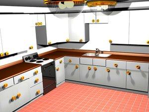 kitchen stove sink 3d model