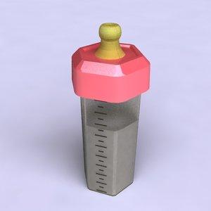 3dsmax baby bottle