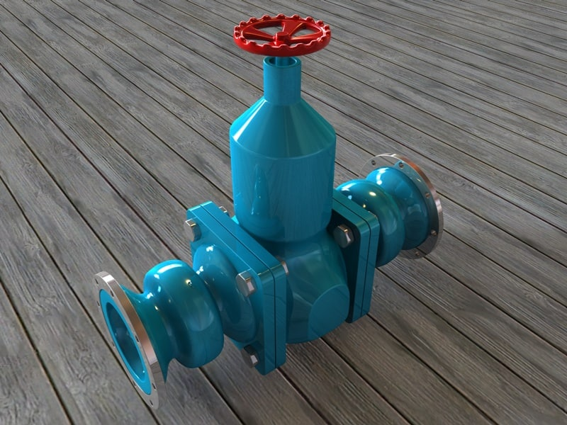 tap water pipes 3d model