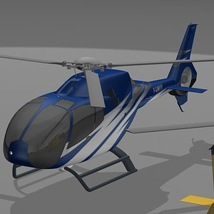 ec-120 helicpoter 3d model