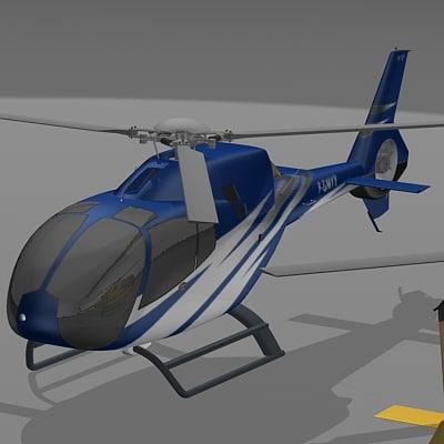 ec-120 helicpoter 3d model