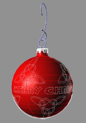 free christmas tree ornament 3d model