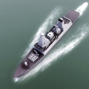 3d royal navy type45 destroyer model