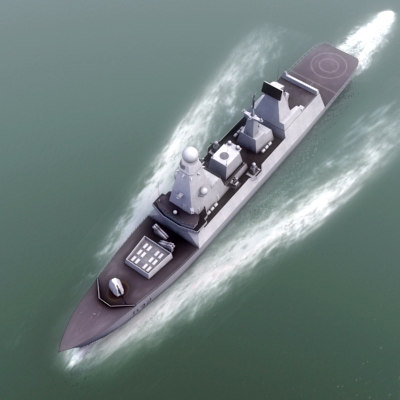 3d royal navy type45 destroyer model