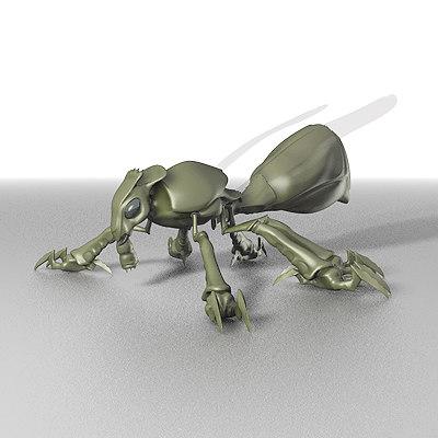 alien fly 3d max