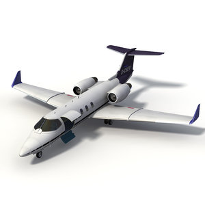 3d learjet 60 business jet