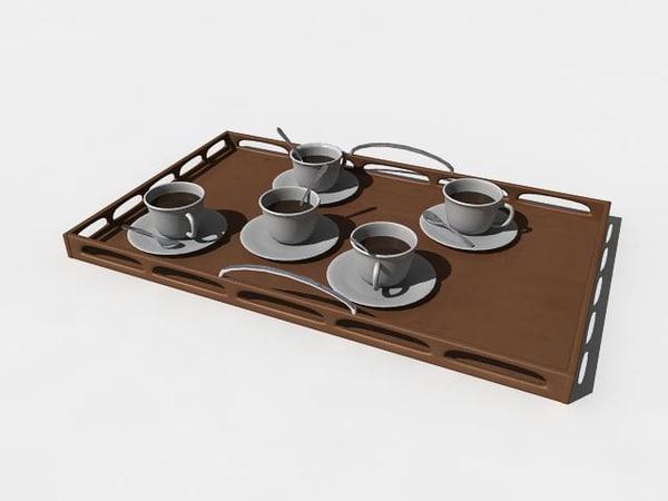 3d model cofee plate