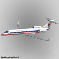embraer erj-140 3d model