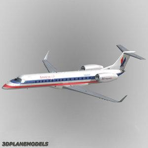 embraer erj-140 3d model