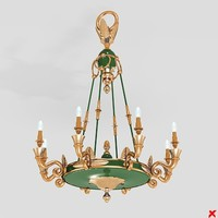 3ds chandelier light lamp