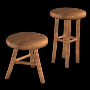 3d model toon stools pzsg