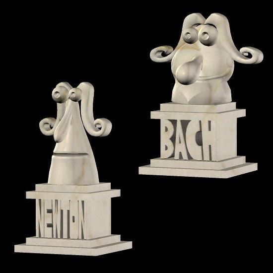 poser toon busts statues pzsg