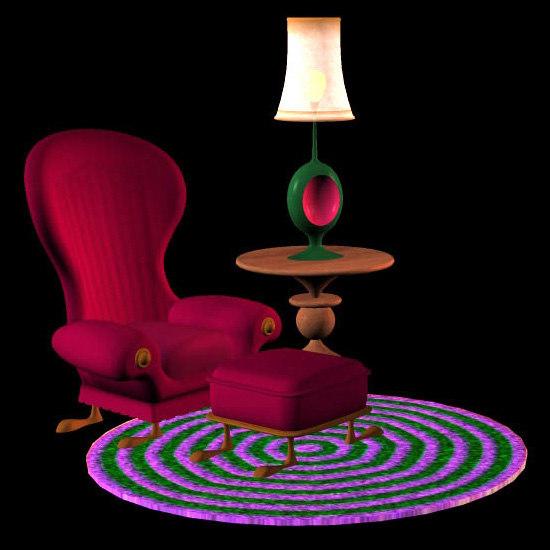 3d pz3 santa workshop livingroom