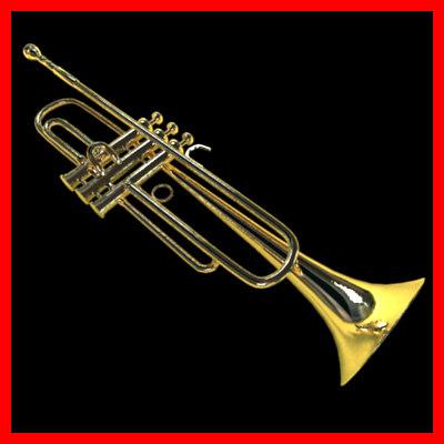 3d model classic trumpet