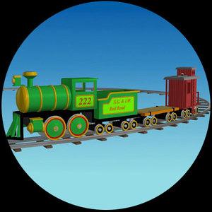 3d toon toy train pzsg