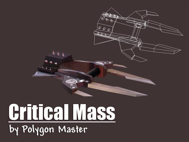 knife critical mass 3d model