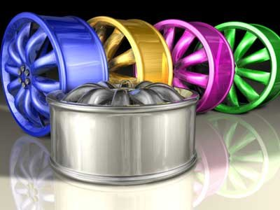 car rim chrome c4d