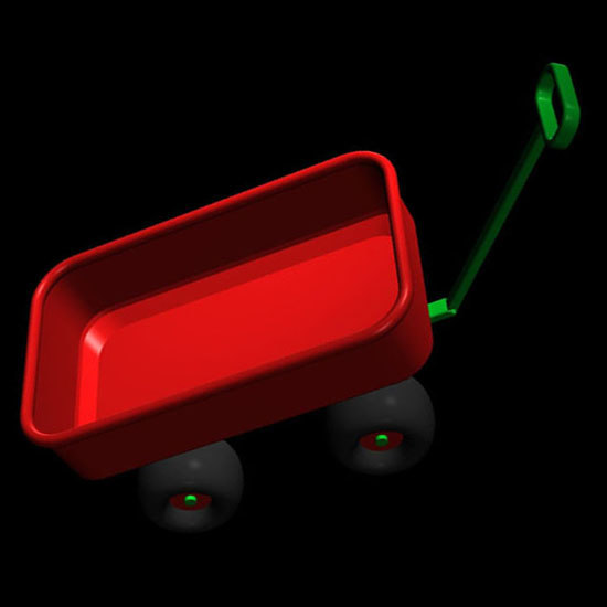 red wagon pzsg 3d model
