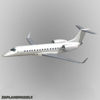 embraer erj-135 regional jet 3d model