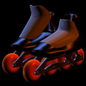 3d toon inline skates pzsg model
