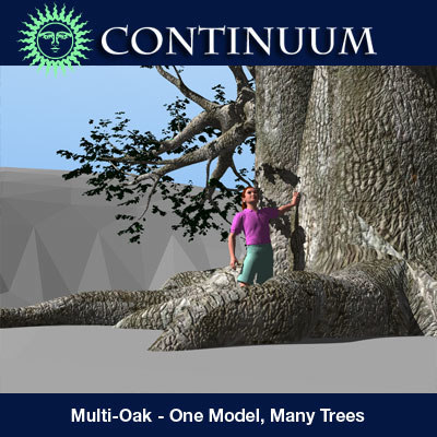 3ds max tree oak single