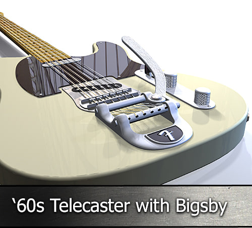 fender telecaster electric guitar 3d 3ds
