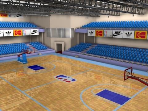 3d model basket court
