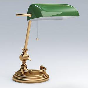 3d model of desk lamp