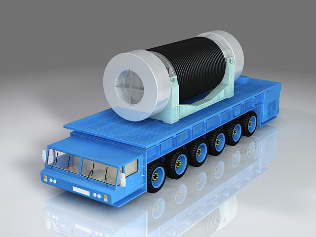3d model of atom transportation