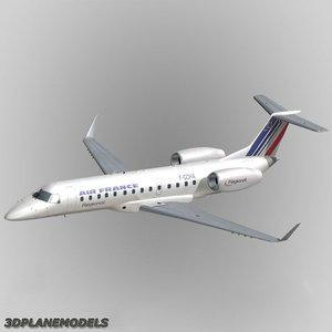 embraer erj-135 regional jet 3d 3ds