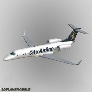 3ds max embraer erj-135 regional jet