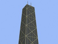 3d john hancock center buildings