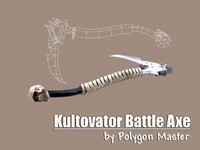 kultovator battle axe 3d obj