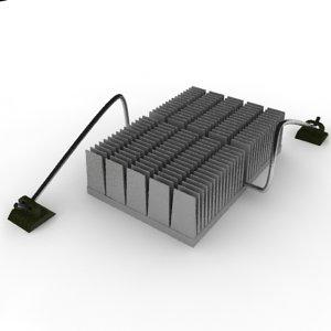 3d heat sink heatsink model