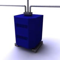 3d water boiler model