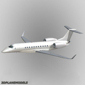 embraer erj-135bj legacy business jet 3d model