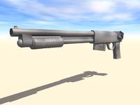 free shotgun gun 3d model