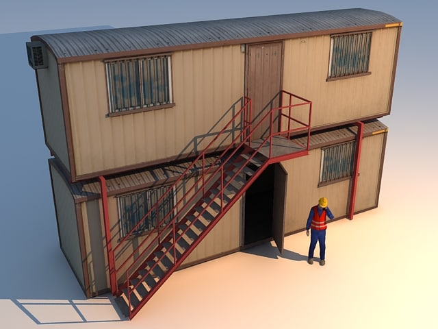 cabine container 3d max