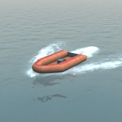 inflatable dingy 3d max