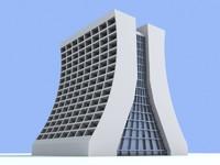 unique skyscraper 3 building 3d model