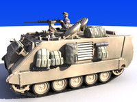 armored personnel carrier m113a2 3d model