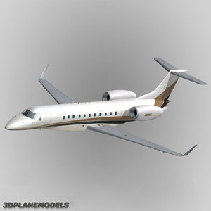 embraer erj-135bj legacy business jet 3ds