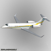 embraer erj-135bj business jet 3d model