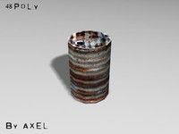 3d model metal cask
