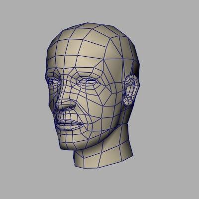 face templete 3d model