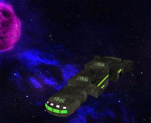 spaceship spacecraft 3d model