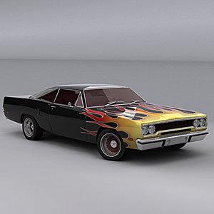 3d plymouth roadrunner 1970 model