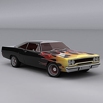 3d plymouth roadrunner 1970 model