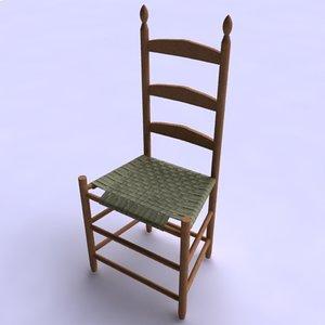 3d model shaker chair