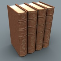 3d model set books